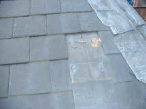 Image result for broken slate on roof