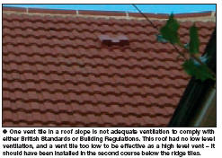 One Vent Tile In A Roof Slope Is Not Adequate Ventilation To Comply With  Either British